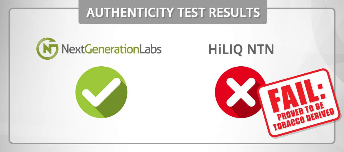 NTN from HiLIQ Proved NOT to be Synthetic Nicotine